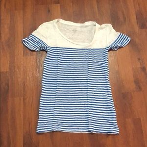 Linen striped t shirt